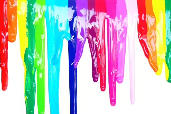 Colorful dripping paint artistic full color