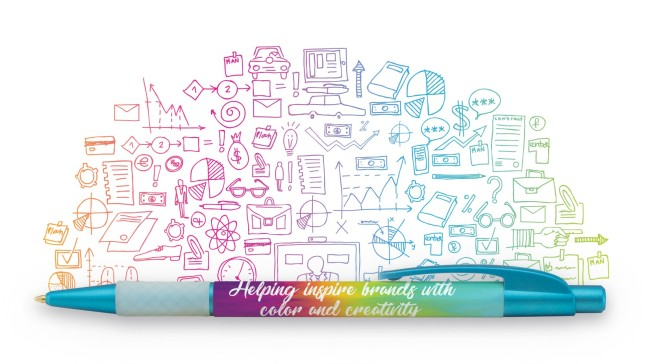 Brand Storytelling Promo Pen with Wraparound Imprint for a Message