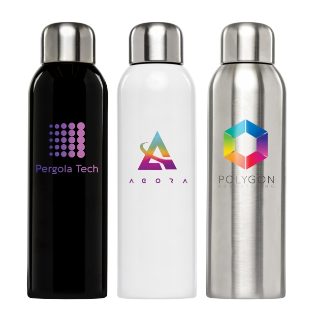 Single-wall stainless steel water bottle (item# WCO-C) from Goldstar Pens.